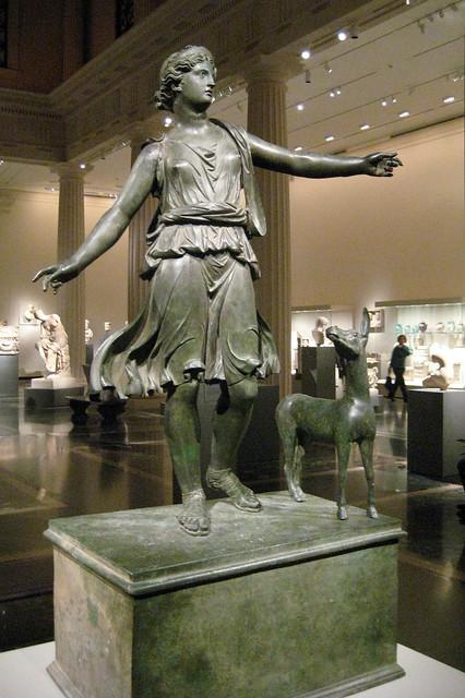 NYC - Metropolitan Museum of Art - Roman statue of Artemis and a deer