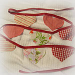 Red Hearts Banner/Bunting