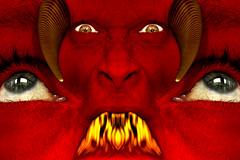 Indigestion of the Mind (ViaMoi) Tags: viamoi photoshop digital art render devil satan concept fire breath vibrant surreal superimposed self ottawa ontario manipulation manipulate man layers imagery image flickr face eyes digitalart design cs3 canada blend artist adobe 2008 encarnado rickspixtop50
