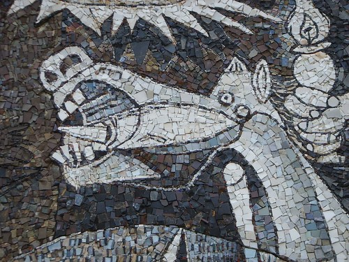 Detail of Guernica mosaic mural, Rome