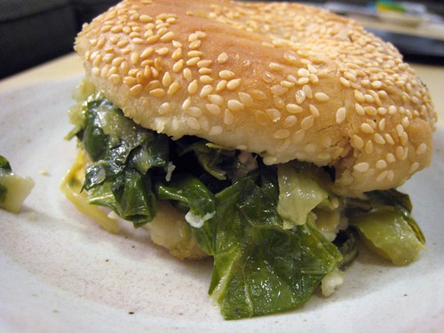 Mustard greens sandwich, Chinatown vendor