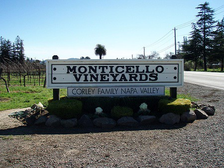 Monticello Vineyards sign