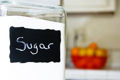 azcar! (NicaMom) Tags: morning light home kitchen writing chalk nikon basket bokeh sugar lemons jar oranges d40
