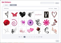 Stickers on Scrapblog