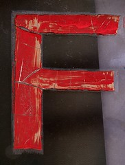 Craquelure Capital Letter F On Glass (Silver Spring, MD) (takomabibelot) Tags: red window glass geotagged curtain maryland f letter silverspring ff oneletter sansserif craquelure windowscreen majuscule philadelphiaavenue geo:lat=38989968 geo:lon=77026246 selimavenue