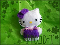 Broche Hello Kitty (PrenD-T) Tags: broche hellokitty kitty felt sanrio feltro prendedor fieltro imperdible prendt