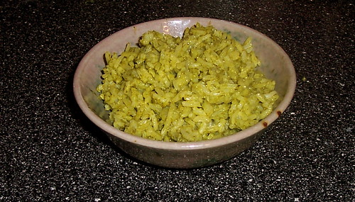 green rice with chard
