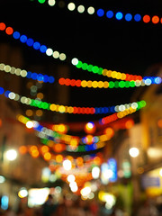 Chinatown Food Street *bokeh-style* (audrie {moon~flower}) Tags: light festival night chinatown bokeh lanterns vesak darksky southbridgeroad openairfoodcentre audreywong