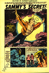 Sammy's Secret (page 1) scan from Mystery Tales 40