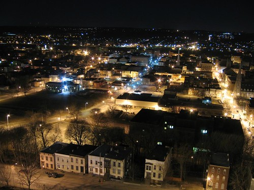 Troy, NY night skyline