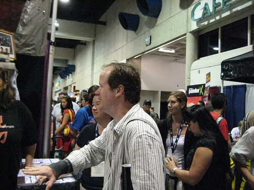 Joss Whedon at the Browncoats Booth
