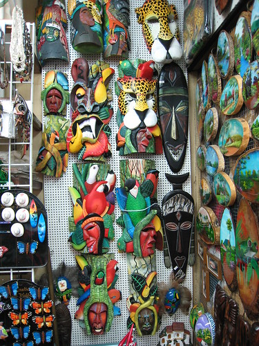 Souvenir market at Plaza de Democracia
