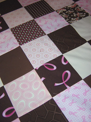 Charity Quilt top progress close up