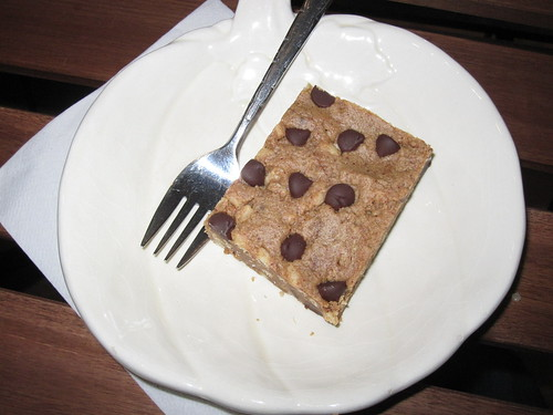 Peanut Butter and Chocolate Chip Square