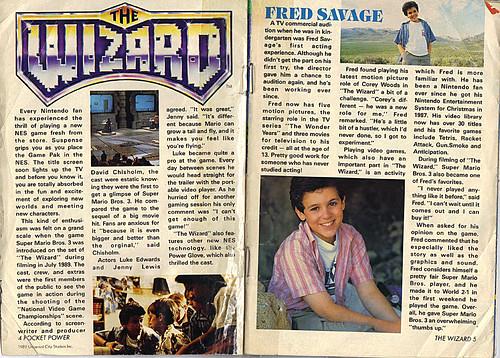 NINTENDO :: Pocket Power { The WIZARD, N.P. promo sampler } pg. 4,5 (( 1989 ))