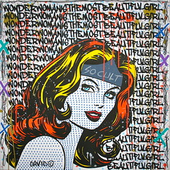 WWis the most beautiful girl (davidkarsenty2) Tags: graffiti bruxelles pop popart wonderwoman popculture artcontemporain deauville lehavre streetpop artcontemporainurbain socult davidkarsenty