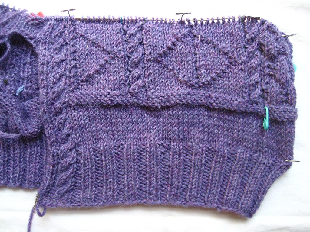 Sea Fever Cardi, progress 071008