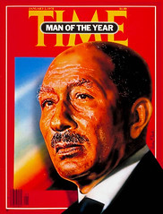 "President Sadat on the time cover for the fourth time ""Person of the year"" (Kodak Agfa) Tags: cover egyptians people egypt media history coverboy magazines timemagazine"