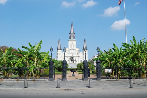 St Louis Cathedral and Jackson Square, New Orleans, USA