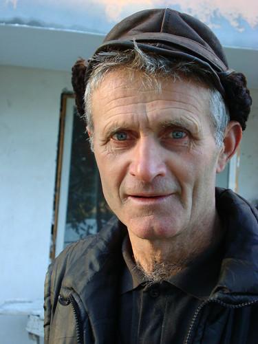 Travailleur roumain dans les Carpathes