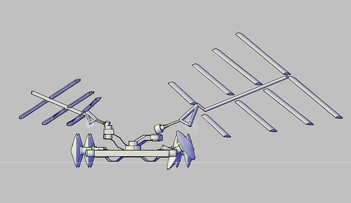 no capsizing. Spailboat, symmetrical version, with eight times detail 41 for controlling eight wheels