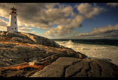 lifeline (matthewcxlangford) Tags: ocean lighthouse canada nova landscape bravo rocks waves cove atlantic scotia halifax peggys lifeline blueribbonwinner mcxl flickrelite