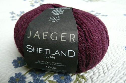 Burgundy Jaeger Shetland Aran
