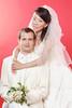 Crouching Groom Standing Bride