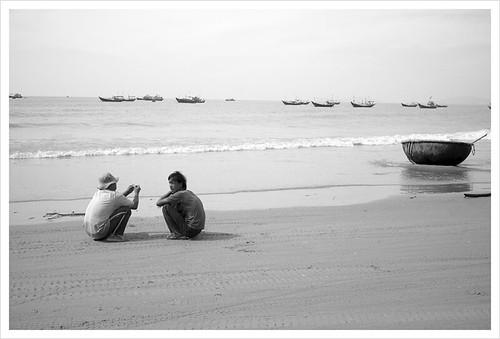 seaside conversation