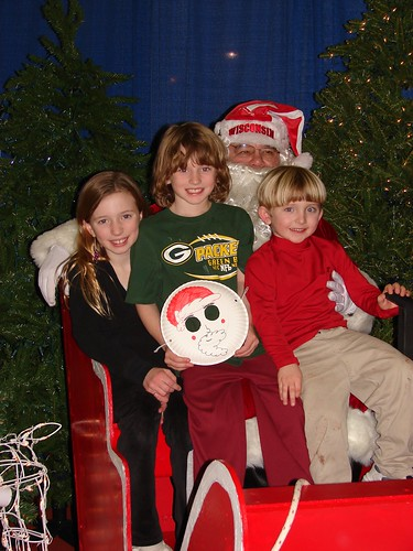 Dahls with Santa