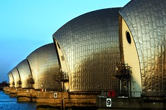 Thames Barrier (.craig) Tags: england london water metal thames river concrete photography waves photographic craig ripples thamesbarrier craigallen anawesomeshot anabadili