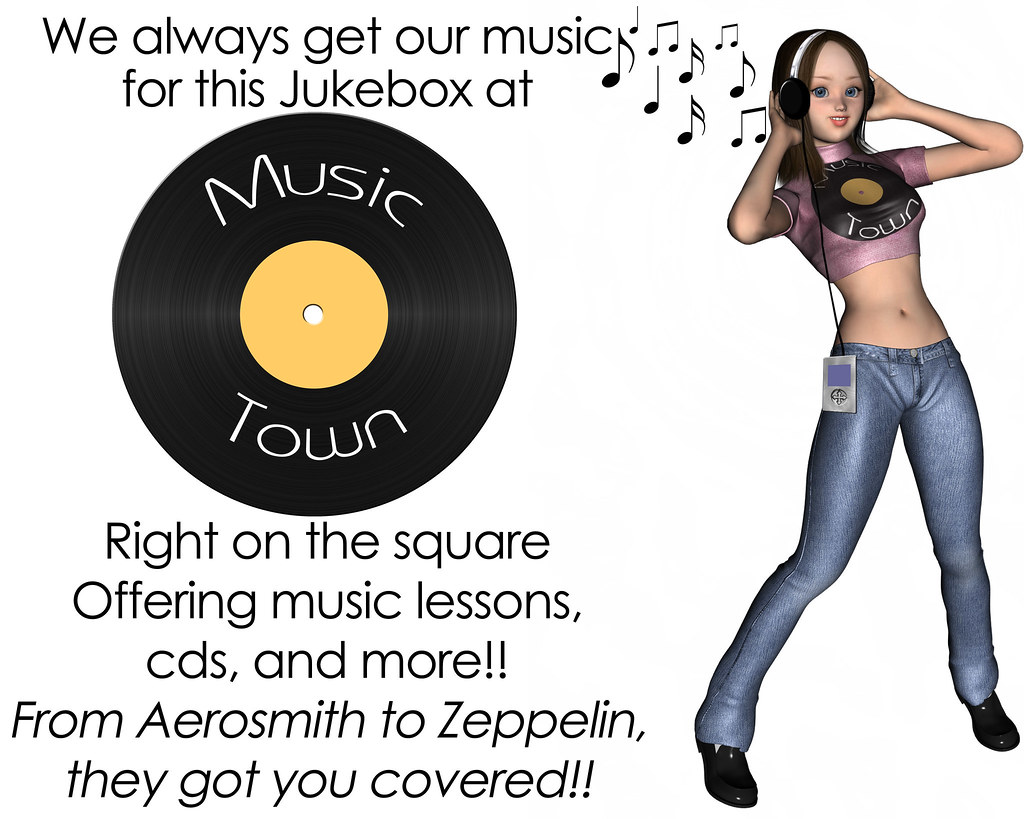 Ad for a music shop