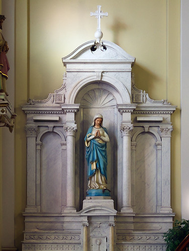 Saints Teresa and Bridget Roman Catholic Church, in Saint Louis, Missouri, USA - altar of Mary