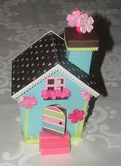 altered house (front) (yifatiii) Tags: house flower love home altered scrapbook scrapbooking paper heart prima alter brads doodlebug frills cardstock chipboard hippiechic bazill