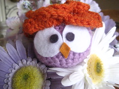 Amigurumi Owl-Day8 (MayaBella) Tags: orange purple owl crochetowl amigurumiowl