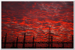 RED means Power (l i j) Tags: sunset red sky sun india public car clouds canon landscape evening power transformer kerala electricity 1785 lij ontheway alleppy alappuzha  lijesh grangrupo granfoto        lijeshphotography wwwfacebookcomlijeshphotography