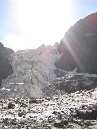 Sol en el glaciar