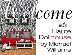Welcome to the Haute Dollhouse! (MyLifeInPlastic.com) Tags: jonathan adler dollhouse haute dollhouselighting