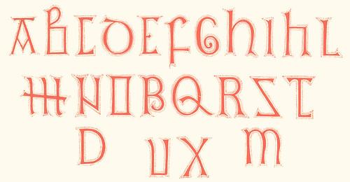 Caligrafia del siglo 8 presumiblemente Anglosajon