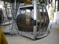 snowy mountain cable car