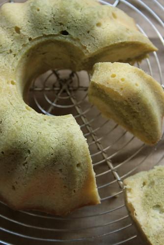 marble green tea cake