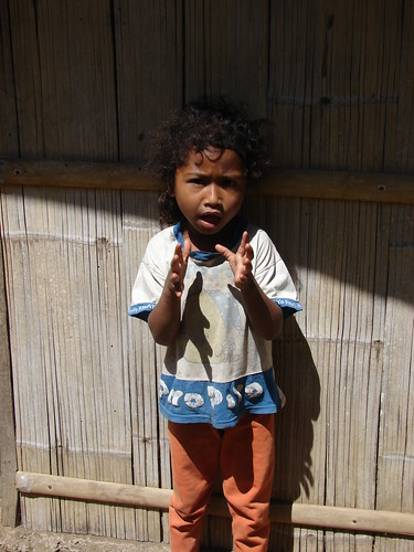 little child in Flores traditional village