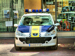 Spanish police car Biar (Ron in Blackpool) Tags: old wall spain ancient fort ron alicante region oldtown curtis fortified costablanca cascoantiguo comarca alcant alicant cascantic marinabaja marinabaixa biar roninblackpool roncurtis