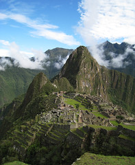 Over Machu Picchu (icelight) Tags: world vacation mountains peru machu picchu inca stone architecture ruins jungle andes herritage huayna wayna