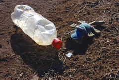 bottle hunt (Leonard John Matthews) Tags: toy bottle australia away impact environment refuse shame tuppence throw firsttheearth trashbit mythoto