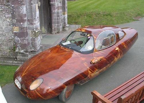 wooden sportscar