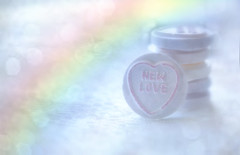 Sweets for my sweet (Sarah Fraser63) Tags: sweetheart sweets candy love loveheart rainbow valentine bokeh highkey pastel pink newlove lovehearts macromonday heart romance lovers truelove macro sonya77