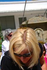 Butterfly on her head!