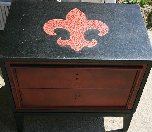 Nightstand for Ed in Detroit by Rick Cheadle Art and Designs