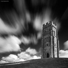 T o r (Gary Newman) Tags: uk longexposure england bw tower clouds square glastonbury somerset tor bigstopper